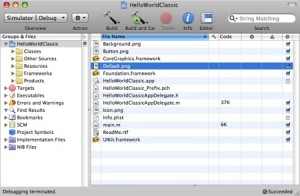 Standard-Projekt im iPhone Software Developer Kit